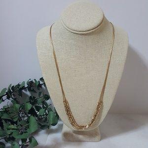 LOFT Thin Gold Layered Necklace